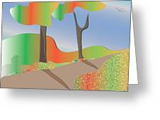 Autumn Path Greeting Card