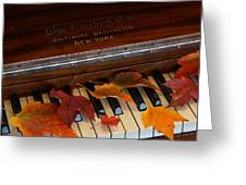 Autumn Piano 1 Greeting Card
