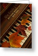 Autumn Piano 11 Greeting Card