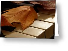 Autumn Piano 12 Greeting Card