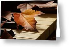Autumn Piano 13 Greeting Card