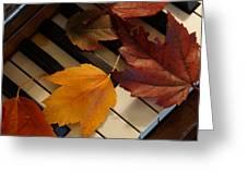 Autumn Piano 2 Greeting Card
