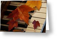 Autumn Piano 6 Greeting Card