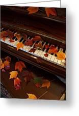 Autumn Piano 7 Greeting Card