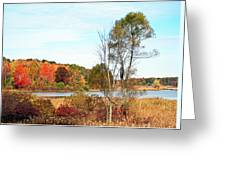 Mendon Ponds In Autumn Greeting Card