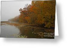 Long Lake In Autumn Greeting Card