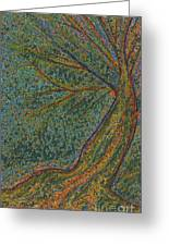 Autumn Rain Tree Greeting Card