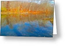Autumn Reflection 2 Greeting Card