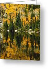 Autumn Reflections At Bear Lake Greeting Card