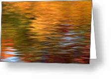 Autumn Reflections In Pond Greeting Card