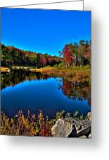 Autumn Reflections In The Adirondacks Greeting Card