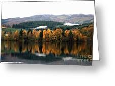 Autumn Reflections On Loch Ard  Greeting Card