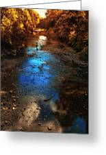 Autumn Reflections On The Tributary Greeting Card