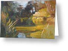 Autumn Reflections Stowe Lake Greeting Card