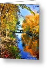 Autumn Reflections On A Friday Afternoon Greeting Card