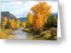 Autumn River In Montana Greeting Card