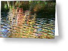 Autumn River Water Reflections  Greeting Card