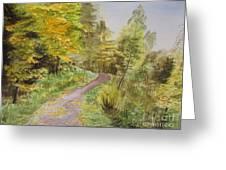 Autumn Riverside Walk Version1 Greeting Card