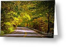 Autumn Road Greeting Card by Carol Groenen