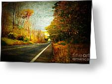 Autumn Road Connecticut Usa Greeting Card