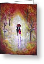 Autumn Romance Greeting Card