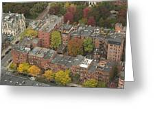 Autumn Rooftops Of Boston Greeting Card by Gordon  Grimwade