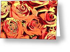 Autumn Roses On Your Wall Greeting Card