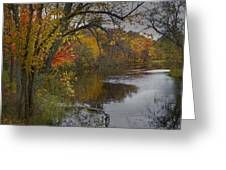 Autumn Scene Of The Flat River Greeting Card