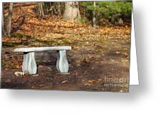 Autumn Seat Greeting Card