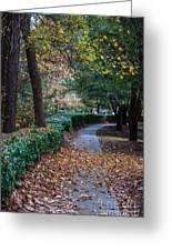 Autumn Side Walk Greeting Card