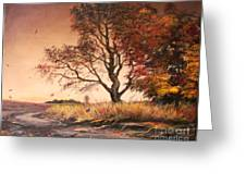 Autumn Simphony In France  Greeting Card