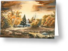 Autumn Sky No W103 Greeting Card