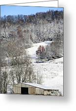Autumn Snow West Virginia Greeting Card