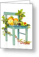 Autumn Still Life Chair Greeting Card