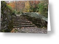 Autumn Stone Staircase Greeting Card