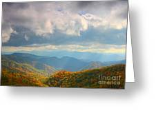 Autumn Storm Over The Great Smoky Mountains National Park Greeting Card