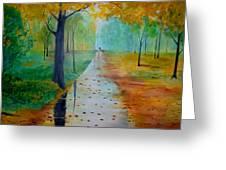 Autumn Stroll Greeting Card