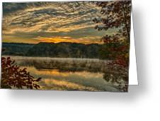 Autumn Sunrise At The Lake Greeting Card