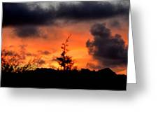 Autumn Sunrise From The Back Deck Greeting Card