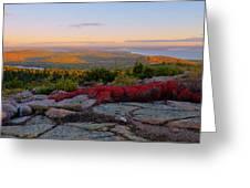 Cadillac Mountain Autumn Sunrise Greeting Card