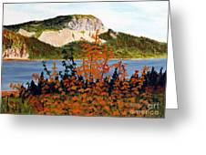 Autumn Sunset On The Hills Greeting Card by Barbara Griffin