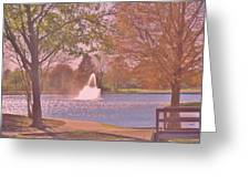Autumn Time In The Park Greeting Card