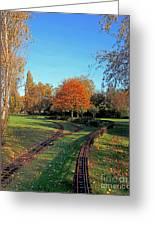 Autumn Tracks Greeting Card