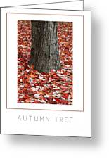 Autumn Tree Poster Greeting Card
