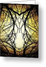Autumn Tree Veins Greeting Card