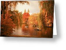Autumn Trees - Central Park - New York City Greeting Card