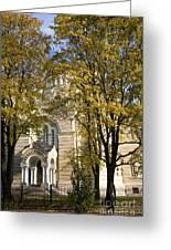 Autumn Trees In A Park Riga Latvia Greeting Card