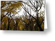 Autumn Trees Panoramic Greeting Card