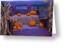 Autumn Truck Greeting Card