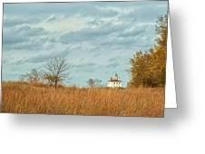 Autumn Twilight Pano Greeting Card